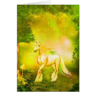 Golden Unicorn Greeting Card