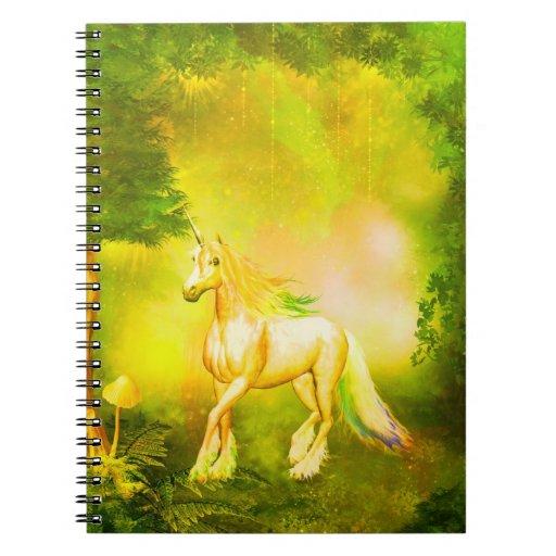 Golden Unicorn Note Book