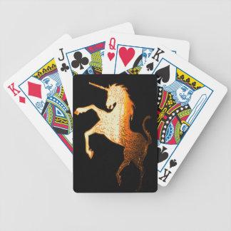 GOLDEN UNICORN BICYCLE CARD DECKS