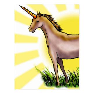 Golden Unicorn Postcard