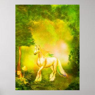 Golden Unicorn Poster