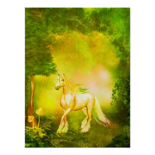 Golden Unicorn Posters