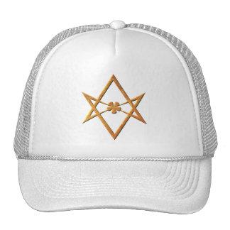 Golden Unicursal Hexagram - thelemic symbol Trucker Hat