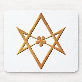 Golden Unicursal Hexagram - thelemic symbol Mouse Pads