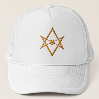 Golden Unicursal Hexagram - thelemic symbol Trucker Hat