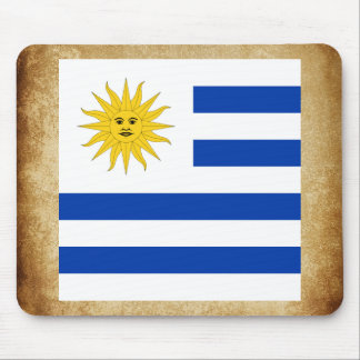 Golden Uruguay Flag Mouse Pad