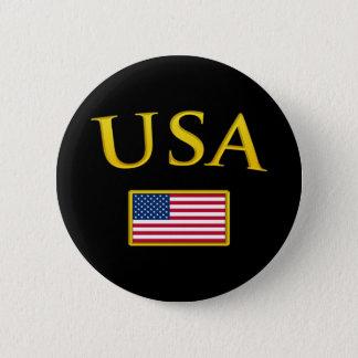 Golden USA 6 Cm Round Badge