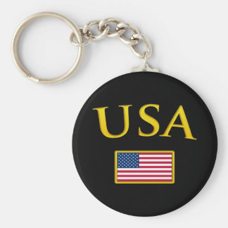 Golden USA Key Ring