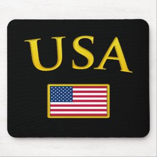 Golden USA Mouse Mat