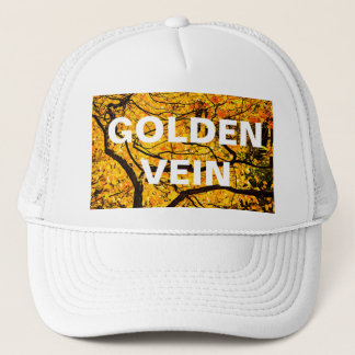 Golden Veins Of Autumn Trucker Hat