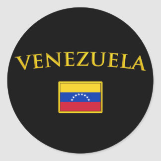 Golden Venezuela Classic Round Sticker
