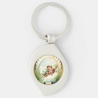 Golden Victorian Angelic Cherubs Key Chain