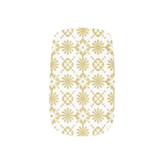 Golden Victorian Inspired Pattern Minx Nail Art