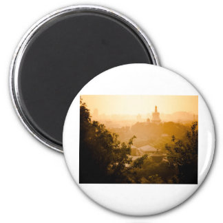 Golden View from Jing Shan 6 Cm Round Magnet