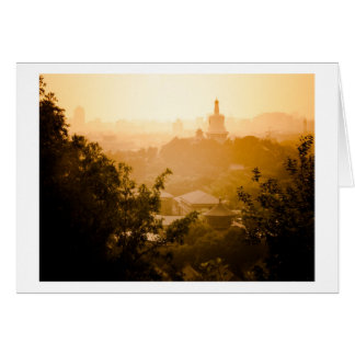 Golden View from Jing Shan Greeting Card