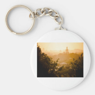 Golden View from Jing Shan Key Chain