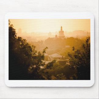 Golden View from Jing Shan Mousepads