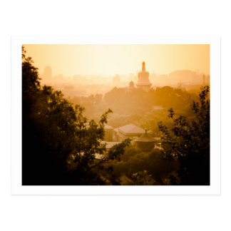 Golden View from Jing Shan Post Card