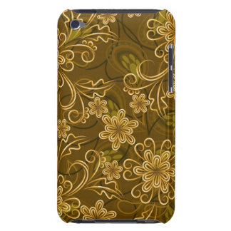 Golden vintage floral pattern Case-Mate iPod touch case