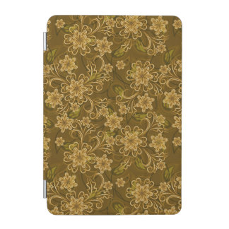 Golden vintage floral pattern iPad mini cover