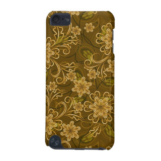 Golden vintage floral pattern iPod touch (5th generation) case