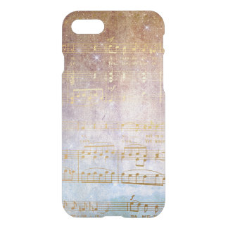 Golden Vintage Notes iPhone Clearly™ iPhone 8/7 Case