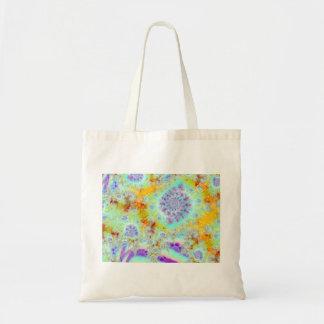 Golden Violet Sea Shells, Abstract Fractal Ocean Bag