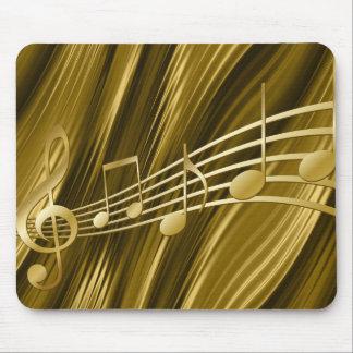 Golden violin key mouse mat
