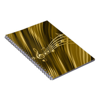Golden violin key notebook