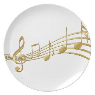 Golden violin key plate