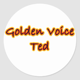 Golden Voice Ted Sticker