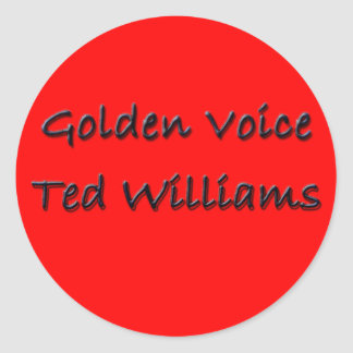 Golden Voice Ted Williams Stickers
