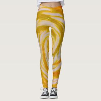Golden vortex leggings