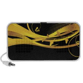 Golden Wave - Abstract Vector Art Custom Speaker