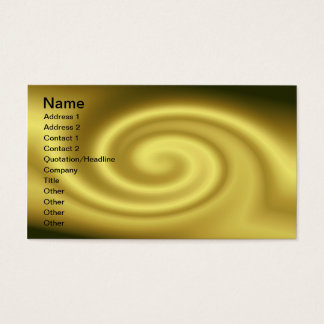Golden Wave Business Card
