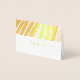 Golden Wave Pattern Thank You Card