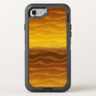 Golden Waves Abstract Pattern OtterBox Defender iPhone 8/7 Case