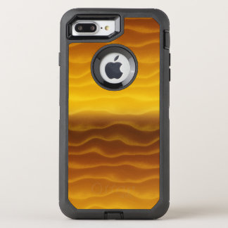 Golden Waves Abstract Pattern OtterBox Defender iPhone 8 Plus/7 Plus Case