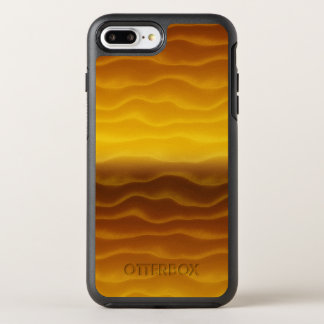 Golden Waves Abstract Pattern OtterBox Symmetry iPhone 8 Plus/7 Plus Case
