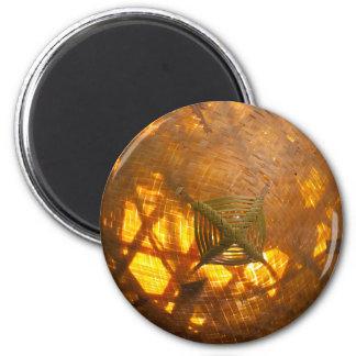 Golden Weave 6 Cm Round Magnet