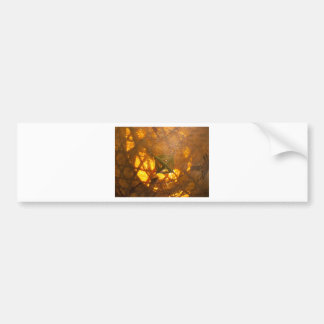 Golden Weave Bumper Sticker