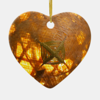 Golden Weave Christmas Ornament