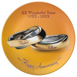 50th Wedding Anniversary Plates Zazzlecouk