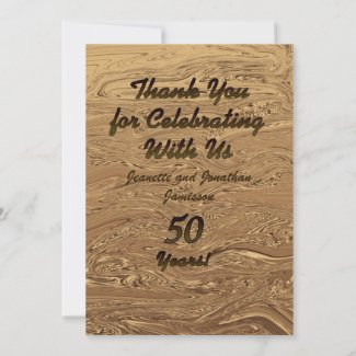 Golden Wedding 50th Anniversary Thank You Custom