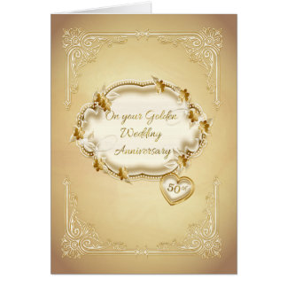 Golden Wedding Anniversary, 50th Greeting Card