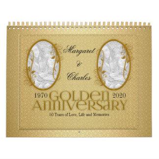 Golden Wedding Anniversary 50th Photo Calendar