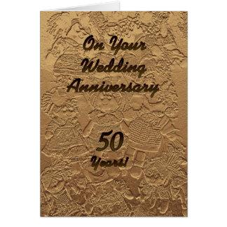 Golden Wedding Anniversary Congratulations Card