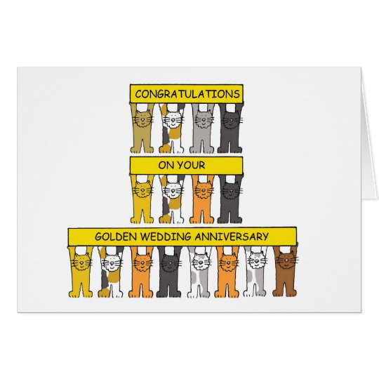 Golden wedding anniversary congratulations. card