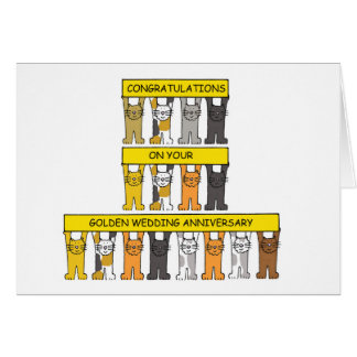 Golden wedding anniversary congratulations. greeting card