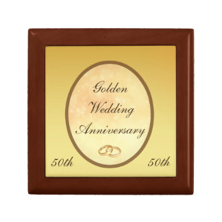 Golden Wedding Anniversary Gift Box